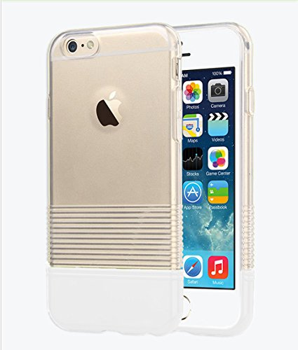 iPhone 6 PLUS Case, Clear Candy Pantone Thin Protective Case for Apple iPhone 6 PLUS (White)