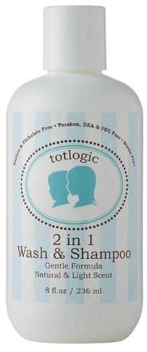 TotLogic 2 en 1 Body Wash & Shampoo - Sulfate, phtalate, paraben, DEA, formaldéhyde, et PEG gratuit
