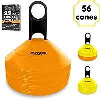 Bltzpro Disc Cones (Set of 56) - Agility Soccer Cones...