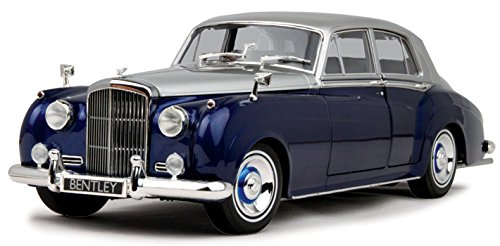 1960 Bentley S2 Silver and Blue 1/18 Diecast Model Car by Minichamps 100139954 -