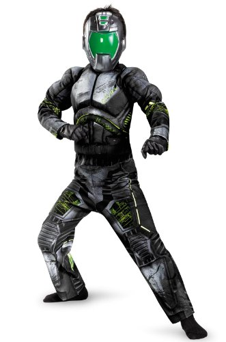 Combat Operative Recon Expedition Commander Deluxe Boys Costume, -