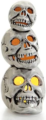 Skull-O-Stack Light Up Skulls Paint Your Own Halloween Ceramic Keepsake