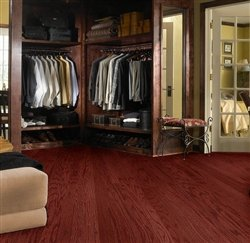 "Shaw Floors Symphonic 3 1/4"" Engineered Oak Hardwood Flooring Merlot Builder Sample"