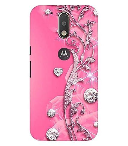 huge selection of 61127 97ef9 Pattern Creations Printed Designer Heart for Girls Slim Light Weight Back  Cover Case for Motorola Moto G4 Plus/Moto G4 (Pink Color)