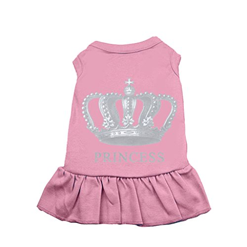 BINGPET BA1003 Girl Princess Pattern Simply Cute Doggie Dresses Party Puppy Skirt For Dogs, Pink 4XL