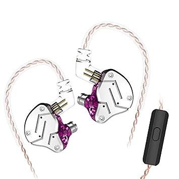KZ ZSN Auriculares Tecnología híbrida 1BA + 1DD HiFi Auriculares para Bajos en el oído Monitor Auriculares con cancelación de Ruido (con micrófono, ...