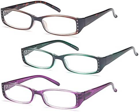 GAMMA RAY READERS Multiple Pairs of Shiny Bling Quality Spring Hinge Reading Glasses