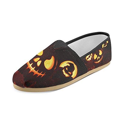 ... D-etasjers Mote Joggesko Flats Happy Halloween Gresskar Kvinners  Klassiske Slip-on Canvas Sko ...