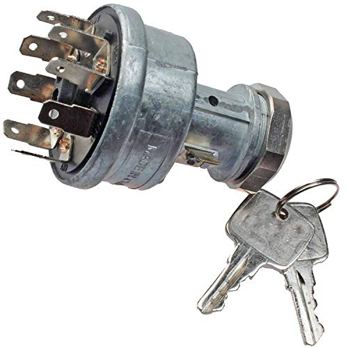 (Mover Parts Ignition Switch With 2 Keys RE45963 for John Deere Tractors 4200 4300 4400 4500 4600 4700 5200 5300 5400 5500 5600 5700 5210 5310 5410 5510 6300 6500 6600 904 1054 1204 1354)