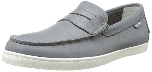 Cole Haan Men's Pinch Leather Weekender Loafer, Grey Leather/White, 10.5 M US