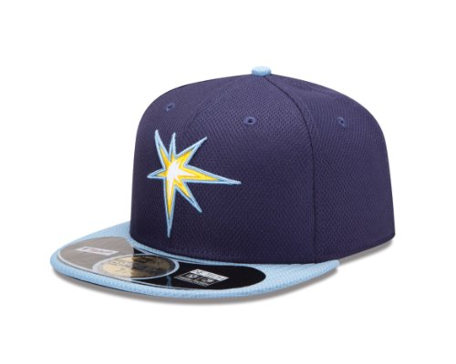 MLB Tampa Bay Rays Diamond Era 59Fifty Baseball Cap,Tampa Bay Rays,7.875 - Baseball Cap Bay Tampa