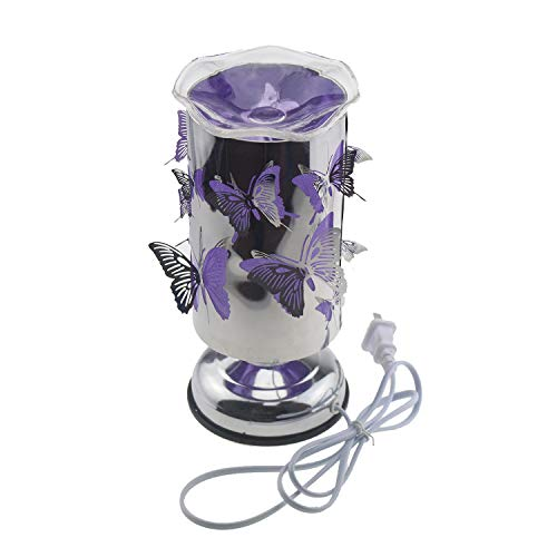 Escomdp Fragrance Led Night Light Home Room Decoration Desk Lamp Touch-Controlled Brightness Adjustable (Butterfly)