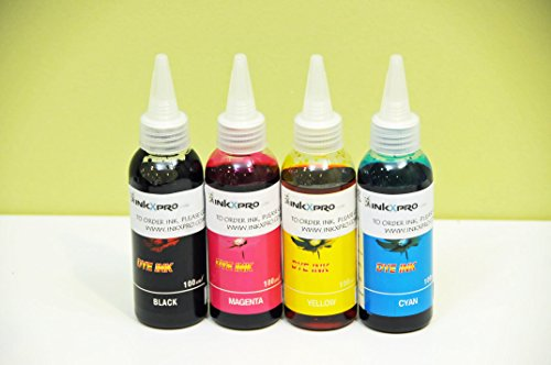 INKXPRO Brand XPRO series 4 X 250ml Professional Ultra True Color Dye Base ink refills for workforce WF printers and Eco-Tank printers