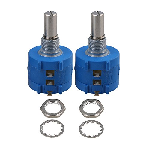 BQLZR 3590S-2-501L Variable Resistor Precision Potentiometer 500 Ohm Wirewound Pack Of 2