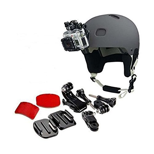 TOOGOO 9 in 1 Helmet Front Side Quick Clip Mount Kit GoPro Hero 6 5 4 3 2 Session by TOOGOO (Image #1)