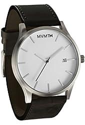 MVMT White Dial SS Black Leather Multifunction Quartz Men's Watch L213.1L.531