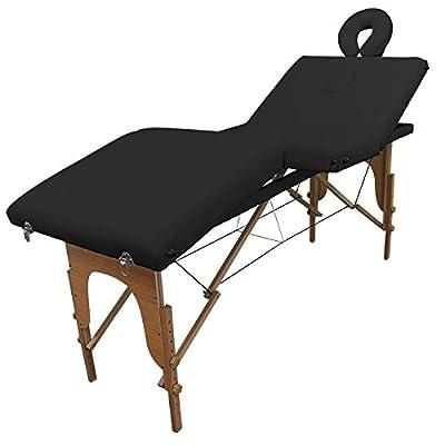 Table de massage Bois Pliante 4 zones livrée avec accessoires - Revêtement noir- Qualité CE - Garantie 2 ans - Utilisation professionnelle ou personnelle. Satisfait ou remboursé. Achat groupé