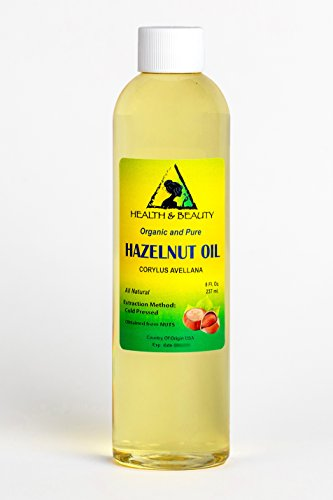 Hazelnut Oil Organic Carrier Cold Pressed 100% Pure 8 oz ()