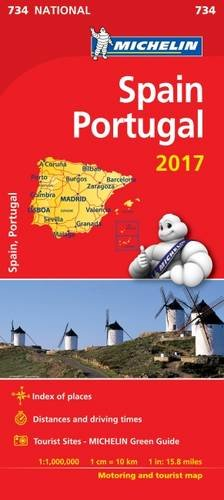 Spain & Portugal 2017 National Map 734 (Michelin National Maps)