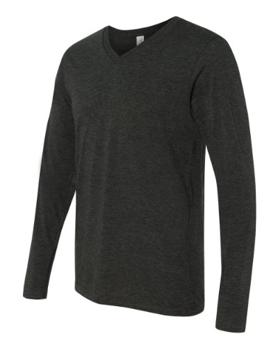 Bella Canvas Men's Tri-Blend Long-Sleeve V-Neck Tee
