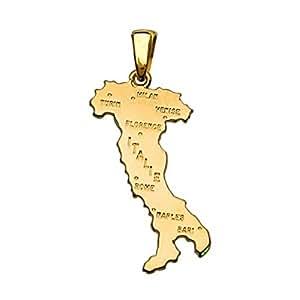 So Chic Joyas-Colgante Papel Italia Italia 750 Dorados