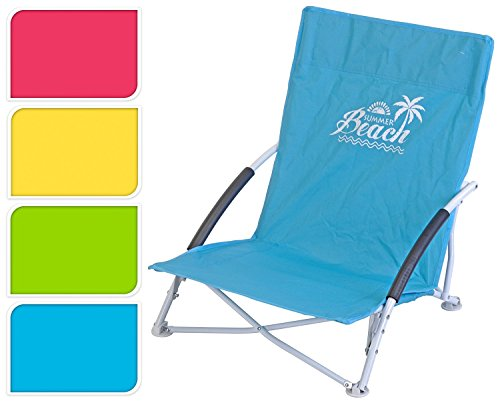 Strand stuhl Strandstuhl Beach Campingstuhl 63 x 50 x 41 cm Pink Blau Grün Gelb (Grün)