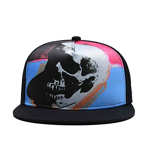 CLOTIME Skull Snapback Hats For Men Women Anime One Piece Cartoon Baseball Cap Flat Bill Hip Hop Visor Hat (Skeleton) ()