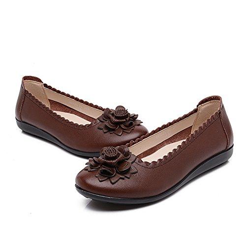 Breve zapatos viento nacional mujeres/Mitad inferior suave y zapatos de las mujeres de edad/Madre con zapatos planos/Mujeres zapatos de las mujeres embarazadas B