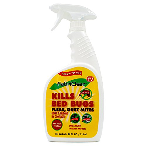 FabriClear Bed Bug, Dust Mite and Flea Killer Spray - Non-Toxic - 24 oz