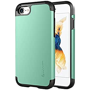 iPhone 7 Case, LUVVITT [Ultra Armor] Shock Absorbing Case Best Heavy Duty Dual Layer Tough Cover for Apple iPhone 7 - Mint Green