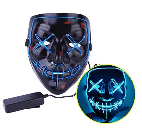 JYOHEY Halloween LED Mask LED Light Up Mask