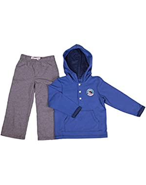 Carter's Baby Boy's Two-Piece Pant Set With Hooded Top