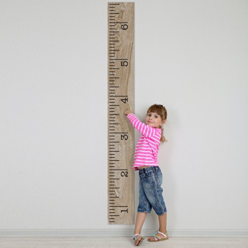 Vinyl Growth Chart Single Transfer For Easy Application Kids Diy Height Wall Ruler Kit Large Measuring Tape Sticker Number Decal Wood