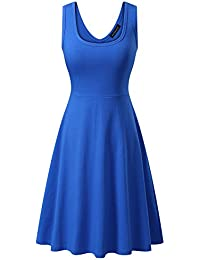 Women's Sleeveless A line Waistline Midi Dress Casual...