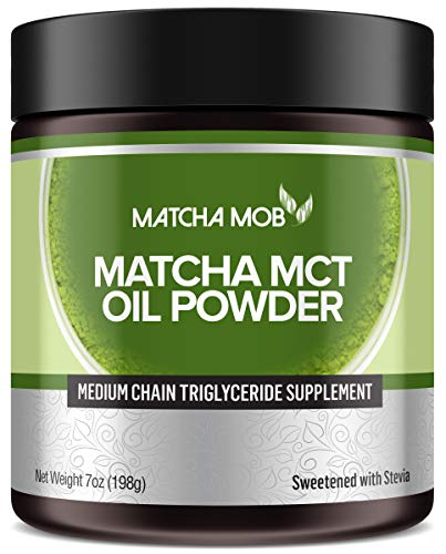 Ceremonial Grade Matcha MCT Oil Powder | MCT Extracted from Coconuts | Ketogenic Clean Energy Supplement | No Sugar, 0 Net Carbs, C8 and C10 Only | Matcha Latte by Matcha Mob For Sale