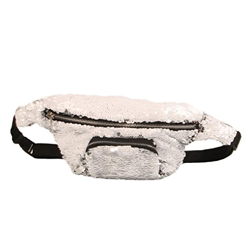 Casual Waist LMMVP Bag Sequins Double Unisex Unisex Pack Outdoor Color by E Gift Sports qtWRTtgrS