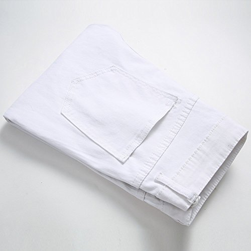 Bhydry Fermeture Blanc À Avec En Streetwear Denim Jeans Glissière wIPaxw