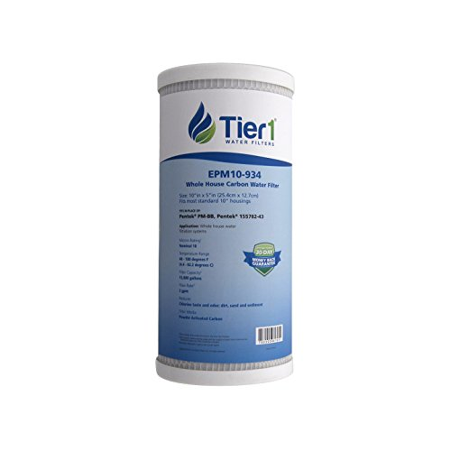 Tier1 EPM-BB 10 Micron 10 x 4.5 Carbon Block Pentek Replacement Water Filter 50 Pack by Tier1