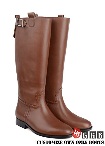 GRB WW2 WWII German Boots WH/Waffen SS General Officer Leather Men's Brown Jack Riding Boot, Customize Custom Made Your Elite Boots! Be Your Own Style,Be Your Only Style!