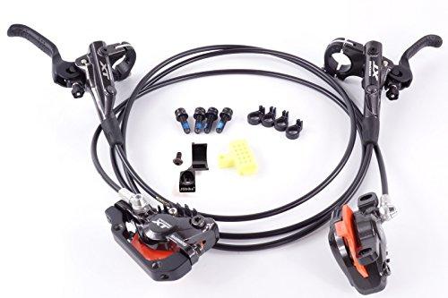 JGbike Shimano XT M8000 Brakes Set,MTB Hydraulic disc Brake Set, Including FIN, Resin Pads, MI-02 Adapter, Front Hose 800mm, Rear Hose 1400mm - Hydraulic Mountain Bike