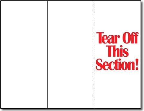 tear away flyer template