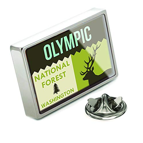 (NEONBLOND Lapel Pin National US Forest Olympic National Forest)