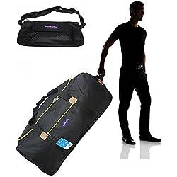 "BoardingBlue Airlines Cuban Rolling Travel Bag w linear size 62"""