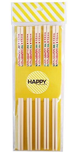 Happy Sales Commercial Grade Melamine Chopsticks 5 Pairs Dragon Design