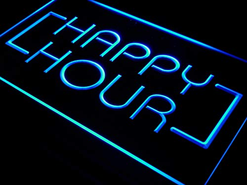 ADVPRO Cartel Luminoso i530-b Happy Hour Bar Coffee Open ...