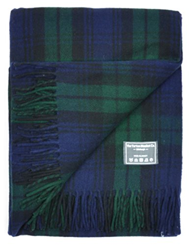 The Tartan Blanket Co. Recycled Wool Blanket Black Watch Tartan (68