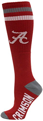 Donegal Bay NCAA Alabama Crimson Tide Tube Socks, Red, One Size