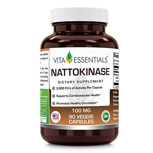 - Vita Essentials Nattokinase 100 Mg Veggie Capsules, 90 Count