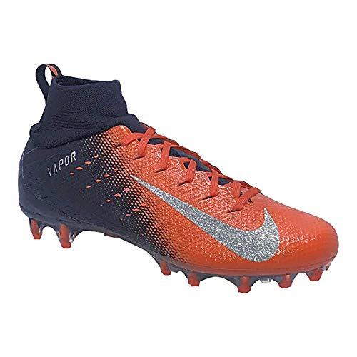 Nike Men's Vapor Untouchable 3 Pro Football Cleats, (Black/Orange, 12) (Nike Mens Vapor Untouchable Pro Football Cleats Black)