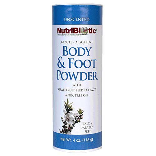 - Nutribiotic Body and Foot Powder, Unscented, 4 Ounce